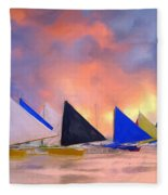 Sailboats On Boracay Island Fleece Blanket