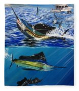Sailfish In Costa Rica Fleece Blanket