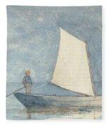 Sailing A Dory Fleece Blanket