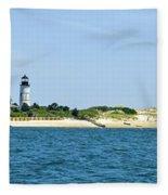 Sailing Around Barnstable Harbor Fleece Blanket