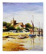 Sailing At Maldon Fleece Blanket