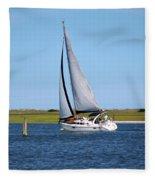Sailing At Masonboro Island Fleece Blanket