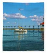 Sailing At St Josephs Fleece Blanket