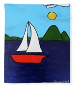 Sailing Away Fleece Blanket