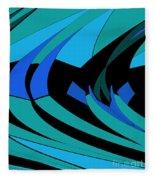 Sailing Blue - Left Fleece Blanket