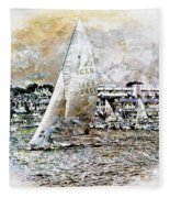 Sailing Boat, Nautical,yachts, Seascape Fleece Blanket