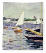Sailing Boats At Argenteuil Fleece Blanket
