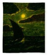 Sailing By Moonlight Fleece Blanket