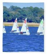 Sailing Charleston Harbor Fleece Blanket