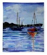 Sailing Day Fleece Blanket