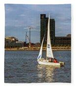 Sailing Downtown Fleece Blanket