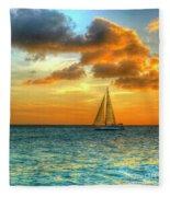 Sailing Free Fleece Blanket
