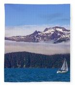 Sailing In Alaska Fleece Blanket