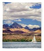 Sailing In Havasu Fleece Blanket