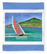 Sailing In Hawaii Fleece Blanket