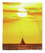 Sailing In Hawaiian Sunshine Fleece Blanket