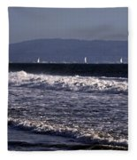 Sailing In Santa Monica Fleece Blanket