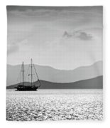 Sailing In The Sunset Fleece Blanket