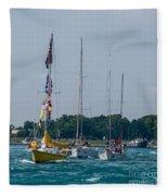 Sailing North Fleece Blanket