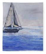 Sailing Off Cape May Point Fleece Blanket