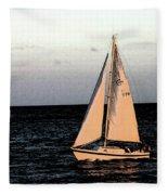 Sailing Off Of Diamond Head Fleece Blanket