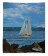 Sailing On A Summer Day Fleece Blanket