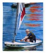Sailing On Lake Thunderbird Fleece Blanket