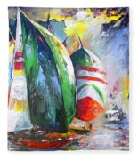 Sailing Regatta Fleece Blanket