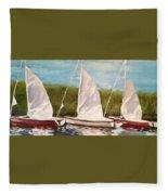 Sailing School Fleece Blanket