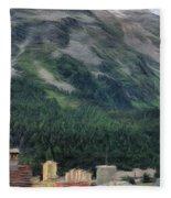 Sailing St Moritz Fleece Blanket