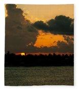 Sailing The Keys At Sunset Fleece Blanket