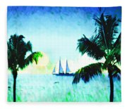 Sailing The Keys Fleece Blanket