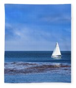 Sailing The Ocean Blue Fleece Blanket