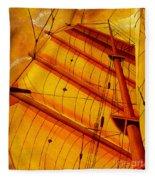 Sailing Through Gold Fleece Blanket