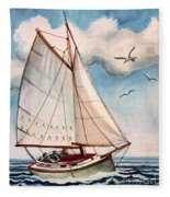 Sailing Through Open Waters Fleece Blanket