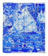 Sailing With Friends Fleece Blanket