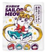 Sailor Meow Fleece Blanket