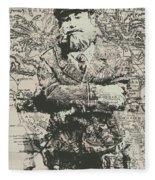Sailors Vintage Adventure Fleece Blanket