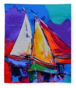 Sails Colors Fleece Blanket