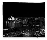 Sails In The Night Fleece Blanket