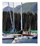Sails Of Seldovia Fleece Blanket