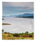 Sails On The Kyles Of Bute Fleece Blanket