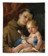 Saint Anthony Of Padua And The Infant Christ Fleece Blanket
