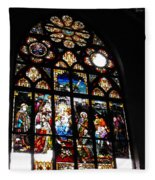 Saint Augustine Stained Glass Fleece Blanket