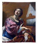 Saint Cecilia Fleece Blanket