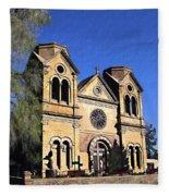 Saint Francis Cathedral Santa Fe Fleece Blanket