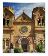 Saint Francis Cathedral Fleece Blanket