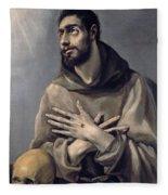 Saint Francis In Ecstasy Fleece Blanket