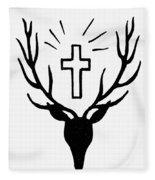 Saint Huberts Stag Fleece Blanket