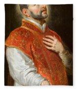 Saint Ignatius Fleece Blanket